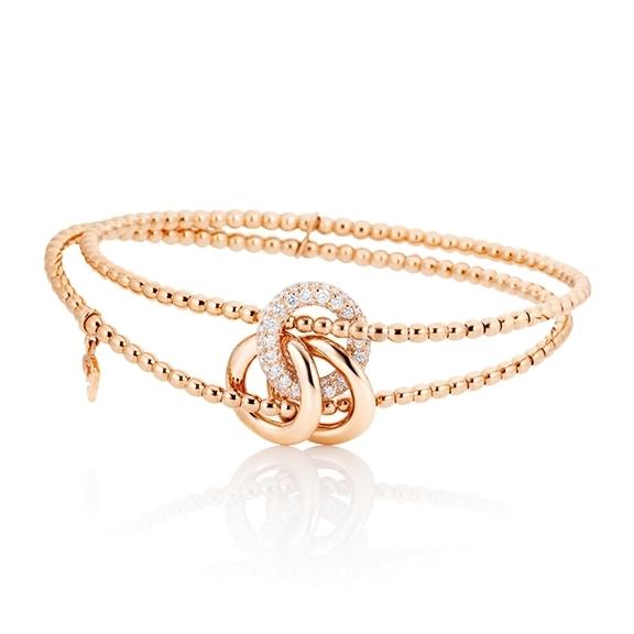 "Armband ""Cielo"" 750/-RG, 77 Diamanten Brillant-Schliff 0.59ct TW/vs1"