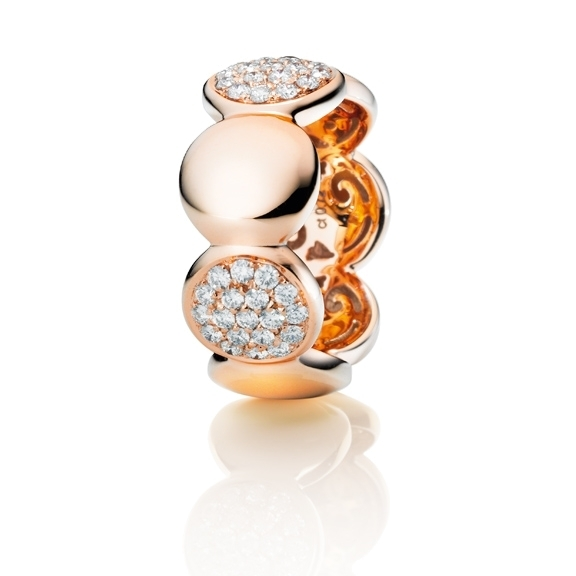 "Ring ""Dolcini"" 750RG, 38 Diamanten Brillant-Schliff 0.72ct TW/vs"