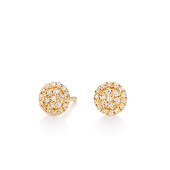 "Ohrstecker ""Dolcini"" 750GG, 38 Diamanten Brillant-Schliff 0.20ct TW/vs"