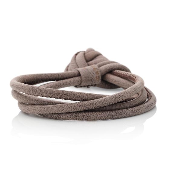 Armband Kalbsleder smokey 4-reihig, Ø 3.0 mm, 22.0 cm