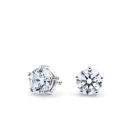 "Ohrstecker ""Diamante in Amore"" 750WG 5-er Krappe, 2 Diamanten Brillant-Schliff 0.3ct TW/vs1"
