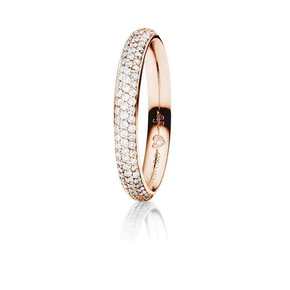 """Ring """"Diamante in Amore"""" 750RG Pavé, 85 Diamanten Brillant-Schliff 0.40ct TW/vs1, 1 Diamant Brillant-Schliff 0.005ct TW/vs1"""