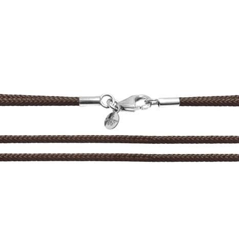 Textilband 750WG dunkelbraun 2-reihig 65.0 cm