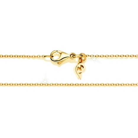 Collierkette Anker diamantiert 750GG 1-reihig mit Markenzeichen, Ø 1.3 mm, Länge 45.0 cm, Zwischenöse bei 42.0 cm