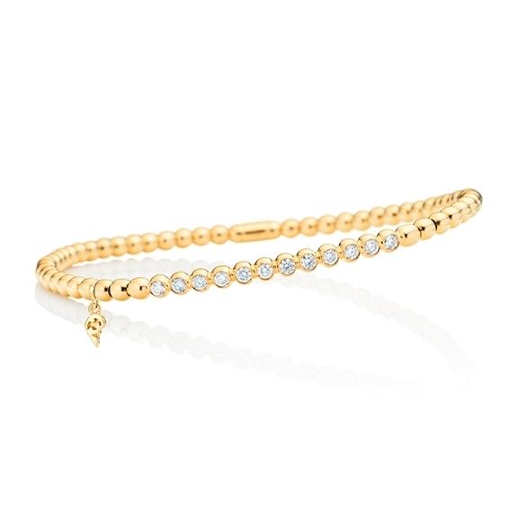 "Armband ""Flessibile"" 750GG, 12 Diamanten Brillant-Schliff 0.40ct TW/si, Innenumfang 17.0 cm"