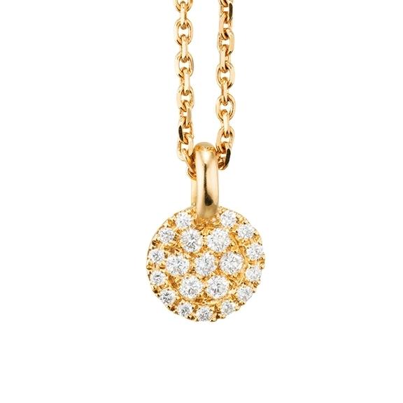 "Anhänger ""Dolcini"" 750GG, 20 Diamanten Brillant-Schliff 0.09ct TW/vs"