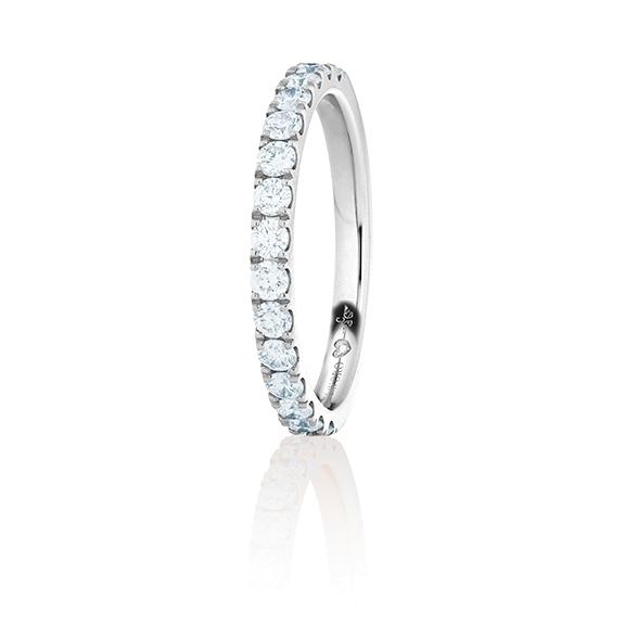 """Memoirering """"Diamante in Amore"""" 750WG, 11 Diamanten Brillant-Schliff 1.10ct TW/vs1, 1 Diamant Brillant-Schliff 0.005ct TW/vs1"""