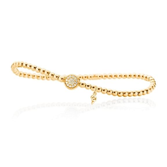 "Armband ""Dolcini"" 750GG, 19 Diamanten Brillant-Schliff 0.10ct TW/si, Innenumfang 17.0 cm"