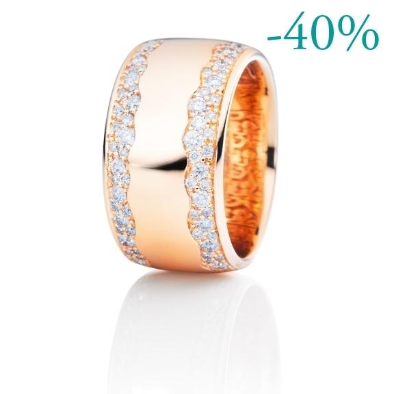 """Ring """"Amuleto"""" 750RG, 78 Diamanten Brillant-Schliff 0.81ct TW/si"""