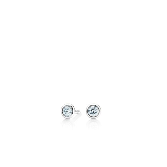"""Ohrstecker """"Classico"""" 750WG Zargenfassung, 2 Diamanten Brillant-Schliff 0.05ct TW/si"""