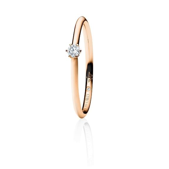 """Ring """"Endless Love"""" 750RG 6-er Krappe, 1 Diamant Brillant-Schliff 0.10ct TW/vs1, 1 Diamant Brillant-Schliff 0.005ct TW/vs1"""