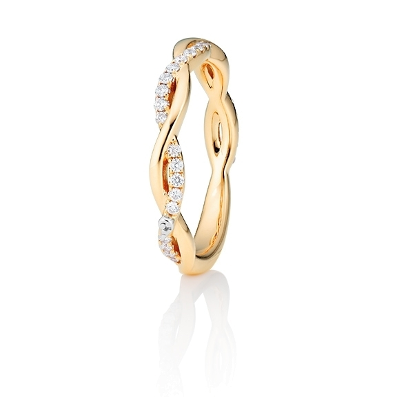 "Ring ""Romantic"" 750GG, 31 Diamanten Brillant-Schliff 0.24ct TW/vs1"