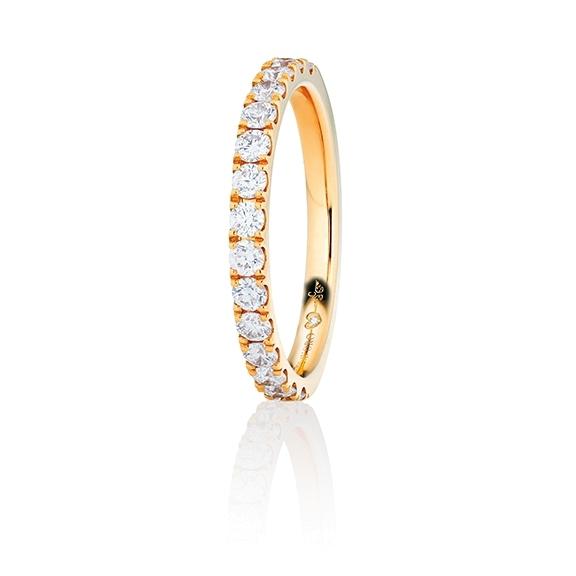 "Memoirering ""Diamante in Amore"" 750GG, 11 Diamanten Brillant-Schliff 1.10ct TW/vs1, 1 Diamant Brillant-Schliff 0.005ct TW/vs1"