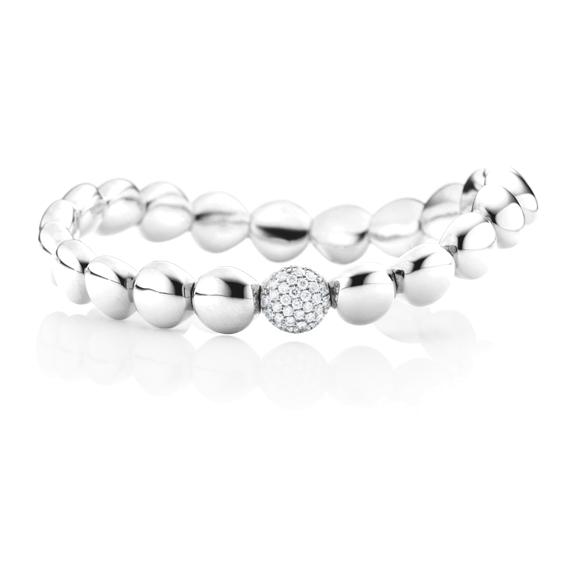 "Armband ""Dolcini"" 750WG, 31 Diamanten Brillant-Schliff 0.26ct TW/si, Innenumfang 17.0 cm"