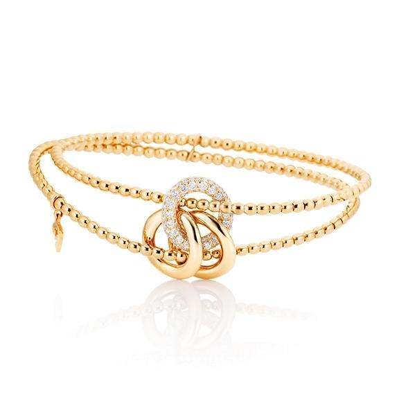 """Armband """"Cielo"""" 750/-GG, 77 Diamanten Brillant-Schliff 0.59ct TW/vs1"""