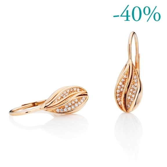 "Ohrhänger ""Elegia"" 750RG, 46 Diamanten Brillant-Schliff 0.16ct TW/si"