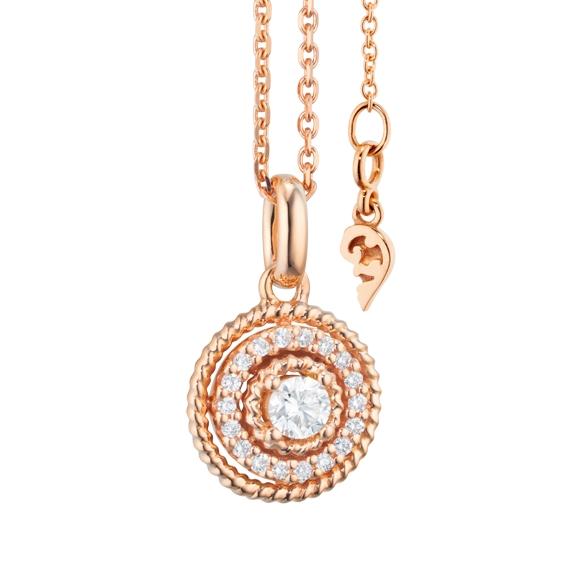 """Anhänger """"Amore mio"""" 750RG, 19 Diamanten Brillant-Schliff 0.20ct TW/si"""