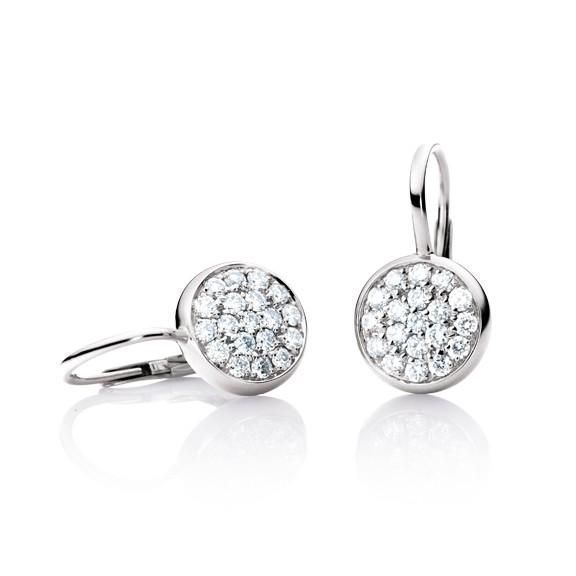 "Ohrhänger ""Dolcini"" 750WG, 38 Diamanten Brillant-Schliff 0.74ct TW/vs"