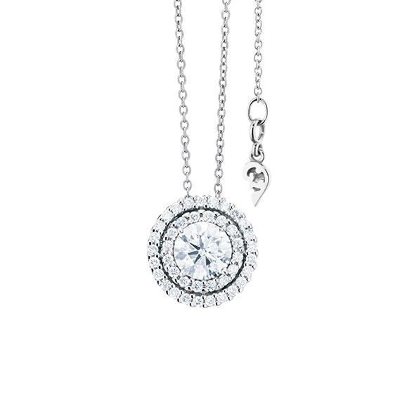 "Anhänger ""Brillantissimo 3"" 750WG, 1 Diamant Brillant-Schliff 0.50ct TW/si, 41 Diamanten Brillant-Schliff 0.16ct TW/si"