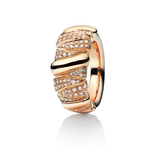 """Ring """"Seraphina"""" 750RG, 216 Diamanten Brillant-Schliff 1.00ct TW/vs"""