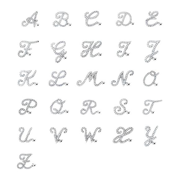 "Armband ""Poesia"" 750WG, Buchstabe ""C"", 33 Diamanten Brillant-Schliff 0.13ct TW/vs, Innenumfang 17.0 cm"