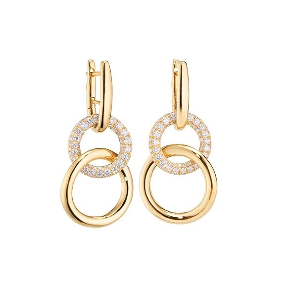 "Ohrcreolen ""Cielo"" 750GG, 174 Diamanten Brillant-Schliff 1.40ct TW/vs1"