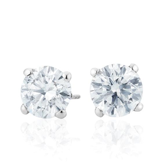"Ohrstecker ""Diamante in Amore"" 750WG 4-er Krappe, 2 Diamanten Brillant-Schliff á 1.00ct TW/vs1 GIA Zertifikat"