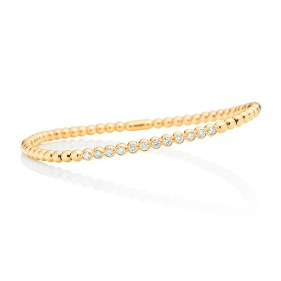 "Armband ""Flessibile"" 750GG, 12 Diamanten Brillant-Schliff 0.41ct TW/si, Innenumfang 17.0 cm"