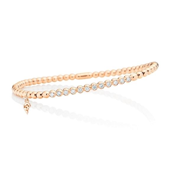 "Armband ""Flessibile"" 750RG, 12 Diamanten Brillant-Schliff 0.35ct TW/vs, Innenumfang 17.0 cm"
