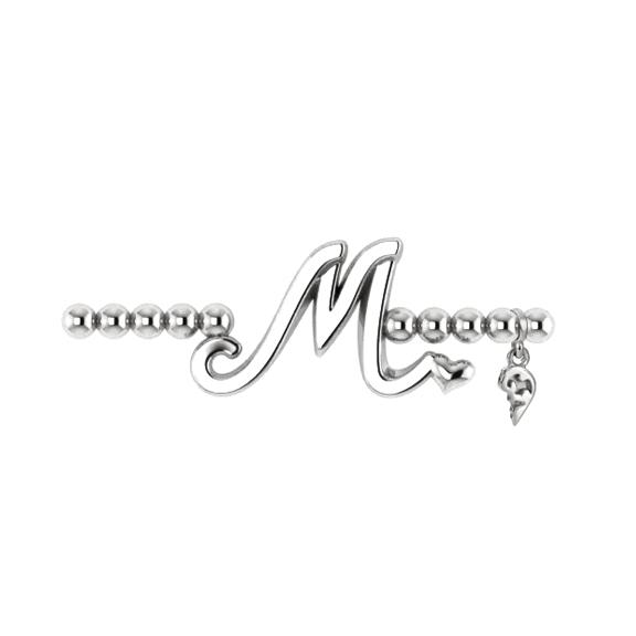 "Armband ""Poesia"" 750WG, Buchstabe ""M"", Innenumfang 17.0 cm"
