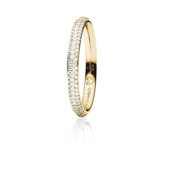 """Ring """"Diamante in Amore"""" 750GG Pavé, 106 Diamanten Brillant-Schliff 0.30ct TW/vs1, 1 Diamant Brillant-Schliff 0.005ct TW/vs1"""
