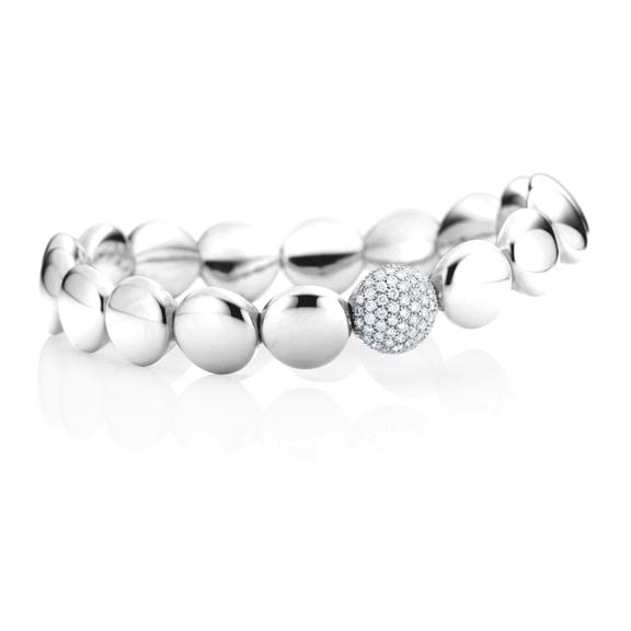 "Armband ""Dolcini"" 750WG, 55 Diamanten Brillant-Schliff 0.78ct TW/si, Innenumfang 17.0 cm"