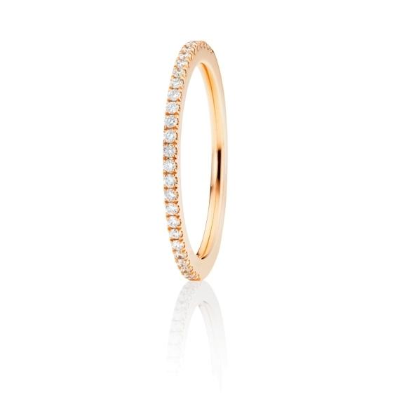 "Memoirering ""Diamante in Amore"" 750RG, 27 Diamanten Brillant-Schliff 0.18ct TW/vs1, 1 Diamant Brillant-Schliff 0.005ct TW/vs1"