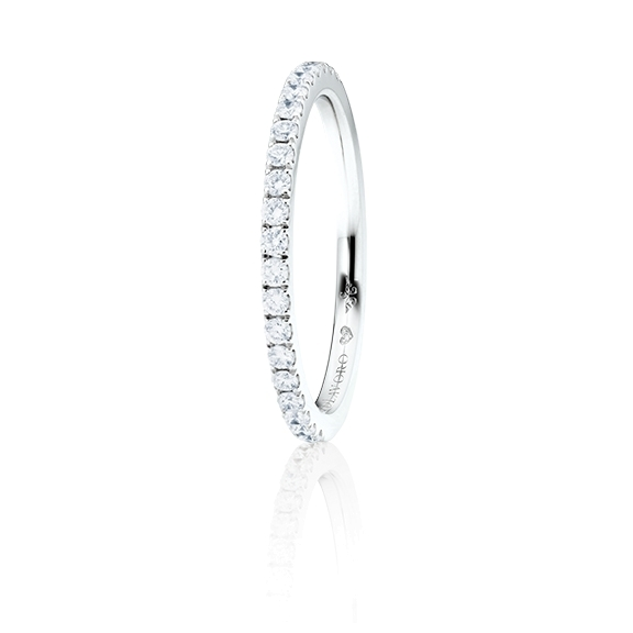"Memoirering ""Diamante in Amore"" 750WG, 21 Diamant Brillant-Schliff 0.26ct TW/vs1, 1 Diamant Brillant-Schliff 0.005ct TW/vs1"