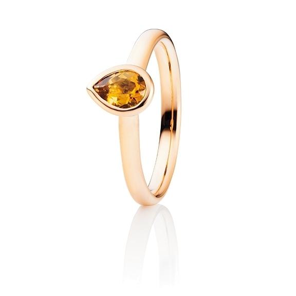 "Ring ""Tutti Frutti"" 750RG, Citrin medium facettiert 6.6 x 4.7 mm ca. 0.50ct"