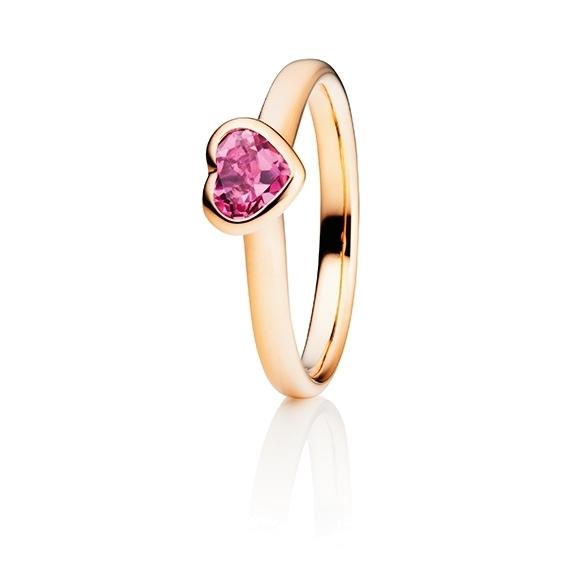"Ring ""Pure Love"" 750RG Herz, Turmalin pink facettiert 5.6 x 4.8 mm ca. 0.50ct"