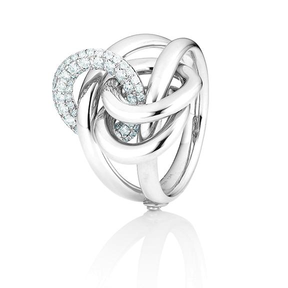 "Ring ""Cielo"" 750WG, 77 Diamanten Brillant-Schliff 0.55ct TW/vs1"