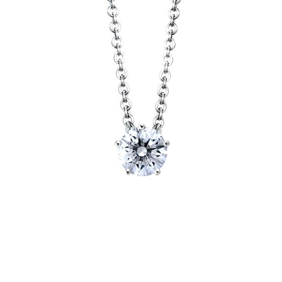 """Collier """"Diamante in Amore"""" 750WG 5-er Krappe, 1 Diamant Brillant-Schliff 0.33ct TW/vs1, Länge 45.0 cm, Zwischenöse bei 42.0 cm"""