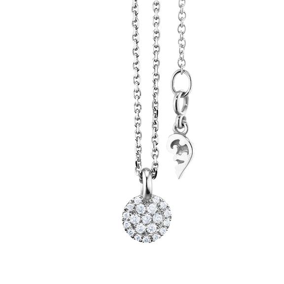 "Anhänger ""Dolcini"" 750WG, 20 Diamanten Brillant-Schliff 0.09ct TW/vs"