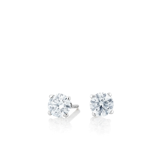 "Ohrstecker ""Diamante in Amore"" 750WG 4-er Krappe, 2 Diamanten Brillant-Schliff 0.50ct TW/vs1"