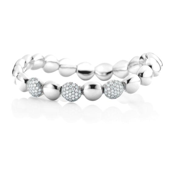 "Armband ""Dolcini"" 750WG, 93 Diamanten Brillant-Schliff 0.78ct TW/si, Innenumfang 17.0 cm"