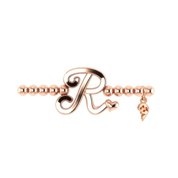 "Armband ""Poesia"" 750RG, Buchstabe ""R"", Innenumfang 17.0 cm"