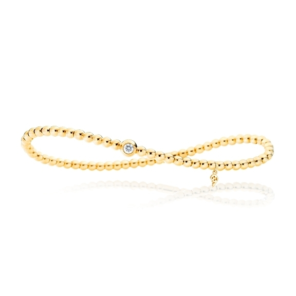 "Armband ""Flessibile"" 750GG, 1 Diamant Brillant-Schliff 0.10ct TW/si, Innenumfang 17.0 cm"
