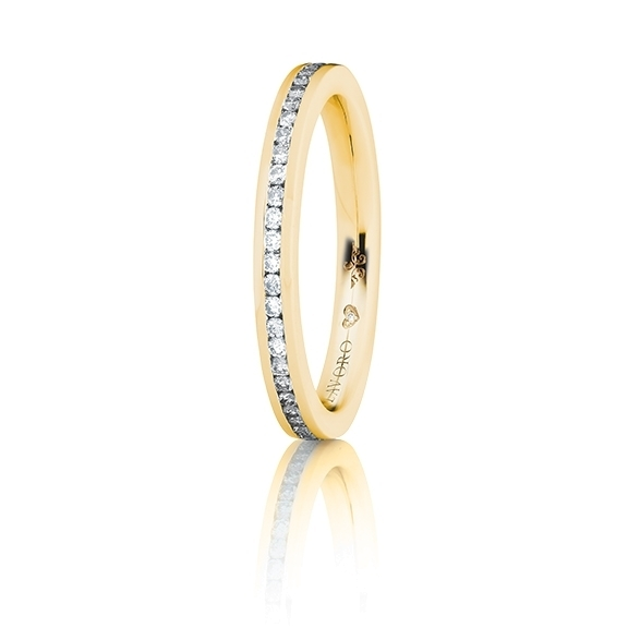 "Memoirering ""Diamante in Amore"" 750GG, 28 Diamanten Brillanten-Schliff 0.20ct TW/vs1, 1 Diamant Brillant-Schliff 0.005ct TW/vs1"
