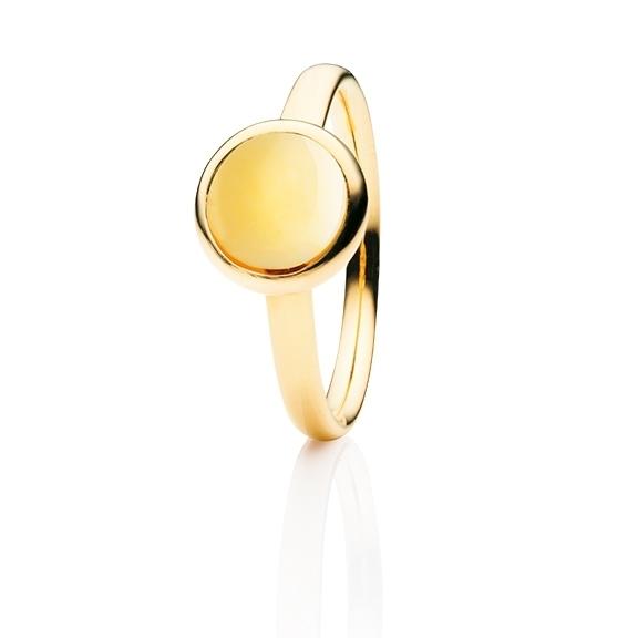"""Ring """"Velluto"""" 750GG, Citrin medium Cabochon Ø 8.0 mm ca. 2.0ct"""