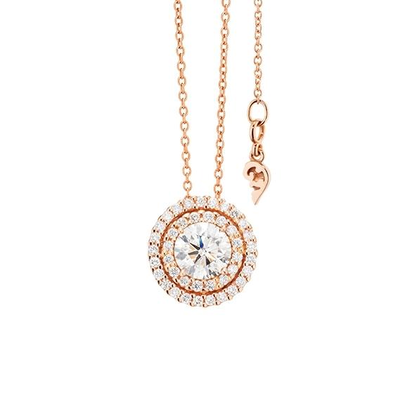 "Anhänger ""Brillantissimo"" 750RG, 1 Diamant Brillant-Schliff 0.50ct TW/si, 41 Diamanten Brillant-Schliff 0.16ct TW/si"