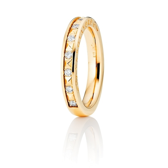 "Ring ""Manhattan"" 750GG, 10 Diamanten Brillant-Schliff 0.20ct TW/vs1"
