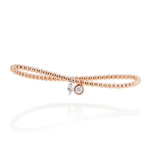 """Armband """"Prosecco d´oro"""" 750RG, 1 Diamant Brillant-Schliff 0.25ct TW/vs, Innenumfang 17.0 cm"""