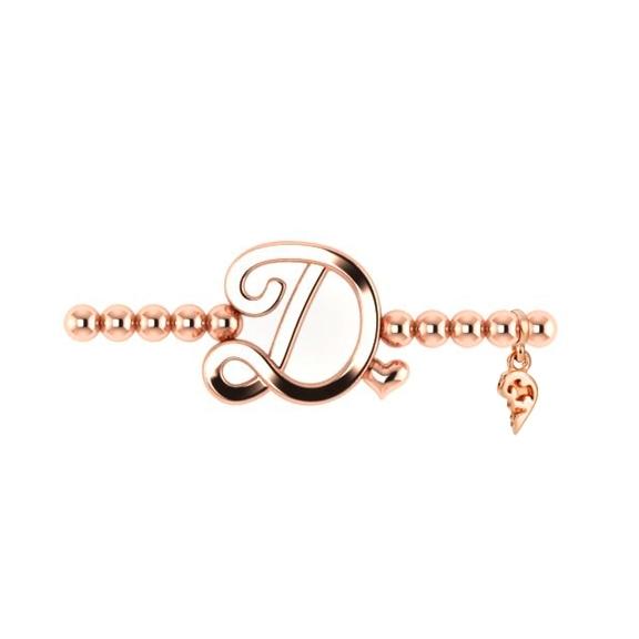 "Armband ""Poesia"" 750RG, Buchstabe ""D"", Innenumfang 17.0 cm"