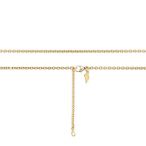 Collierkette Anker rund 750GG 1-reihig mit Markenzeichen, Ø 2.3 mm, Länge 60.0 cm, Zwischenösen bei 51.0 + 55.5 cm